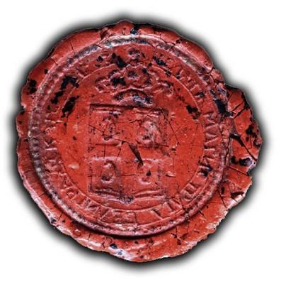 Wax seal of Beligradski magistrat, 1812, IAB, ZArh.