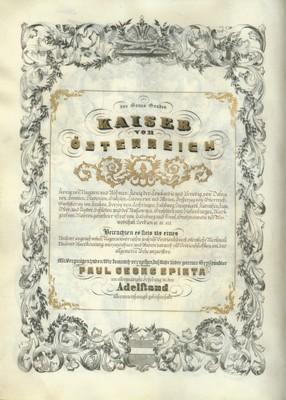 Charter issued by Emperor Francis Joseph I ennobling Pavel Georgije Spirta, Vienna, 1856, IAB, ZDUP. (Page 2)