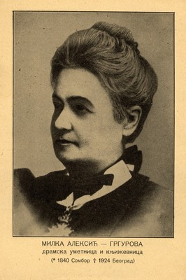 Milka Aleksić – Grgurova (1840–1924), actress and author, IAB, Zf.