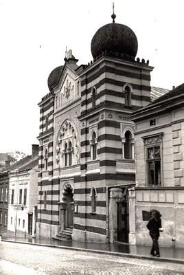 Beth Israel Synagogue in Cara Uroša Street in Belgrade, built in 1908, demolished during World War II, IAN, Zf.