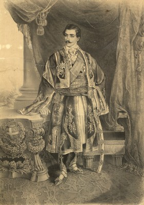 Кнез Михаило Обреновић, Београд, литографија, ИАБ, ЗШТ.