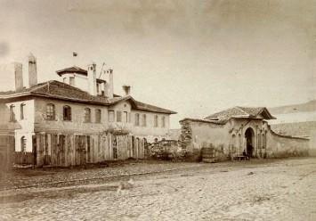 Конак кнегиње Љубице, у коме је био смештен Лицеј од 1844. до 1863, Београд, 1876, ИАБ, Зф.