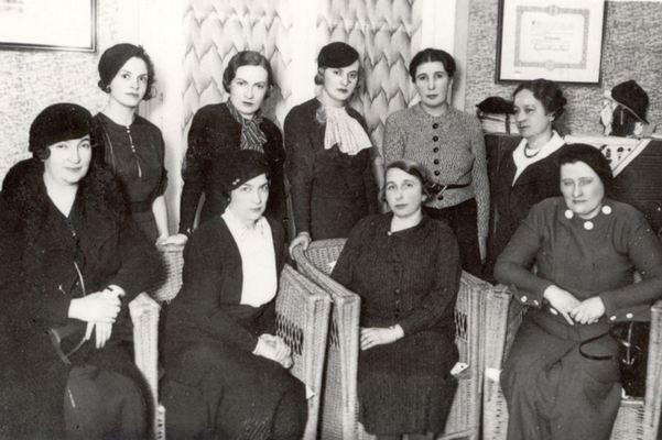Чланице управе Удружења универзитетски образованих жена, 1935, ИАБ, УУОЖ.