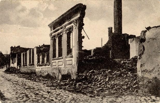 Парни млин, последње аустроугарско бомбардовање у Улици цара Душана, Београд, 1915, ИАБ, Зф.