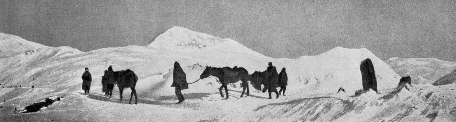 Повлачење војске и становништва преко Албаније 1916. Француски маршал Жозеф Жофр, врховни командант снага Антанте, за ово повлачење изјавио је да по страхотама превазилази све што је у историји до тада забележено, ИАБ, Зф.