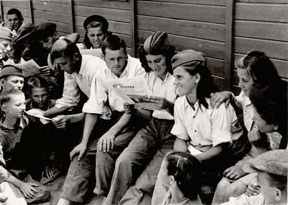 Youth and shock work brigades at restoring and rebuilding the old and new Belgrade, Belgrade, 1946, IAB, Zf RP i NOB i socijalističke izgradnje.