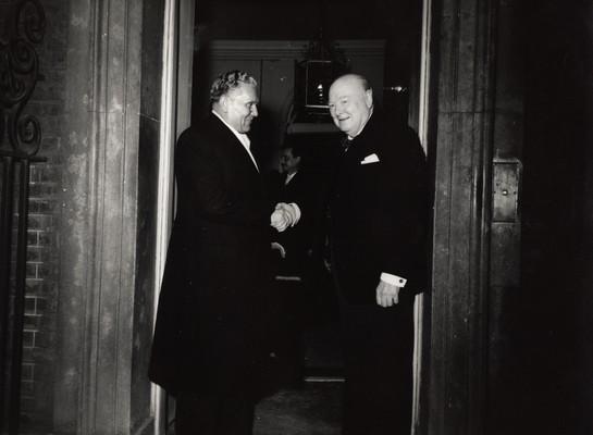 Tito and Churchill, London, 1953, IAB, Legat Konstantina Koče Popovića i Leposave Lepe Perović (hereafter Legat Koče Popovića).