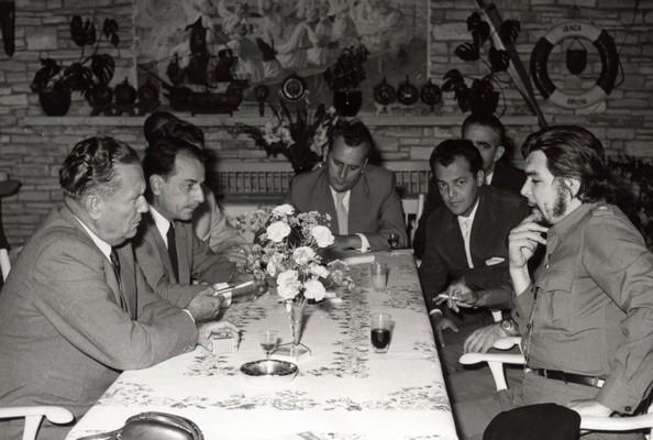 Tito with Ernesto Che Guevara, the Cuban goodwill mission and associates, Brijuni Islands, 1959, IAB, Legat Koče Popovića.