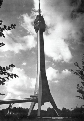 The Avala Tower (Avalski toranj) was built in 1965, according to plan by architects Uglješa Bogunović, Slobodan Janjić and statics engineer and constructor Milan Krstić. It was destroyed in 1999 during NATO bombing but was restored and reopened in 2009, IAB, Zf digitized format.