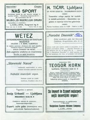 Часопис Сејмски вестник VI љубљанског велесајма, 1926, ИАБ, TKБ. (Страна 2)
