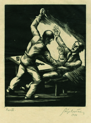 Фрањо Стипловшек, Карте, графика, 1930, ИАБ, ЗШТ.