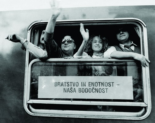 "Train of ""Brotherhood and Unity"". Between 1961 and 1989 the train would make annual journeys from Maribor to Kraljevo, as a sign of remembrance and gratitude for the hospitality offered by people of Serbia to Slovenes, exiled during the World War II. Some 7.500 found shelter in Kraljevo, IAB, Zf."