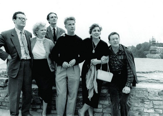 Stevo Žigon, actor and director, on tour with theatre members of JDP. Crucial moments of his career were connected with Bojan Stupica, ZSSR, 1956, IAB Lf Jovan Ćirilov.