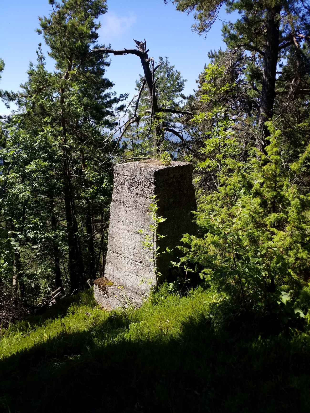Remains of a German watchtower on Goljek, a hill 809 metres high above the village of Topol (Sveta Katarina) above Ljubljana. Source: Author: Peter Mikša.