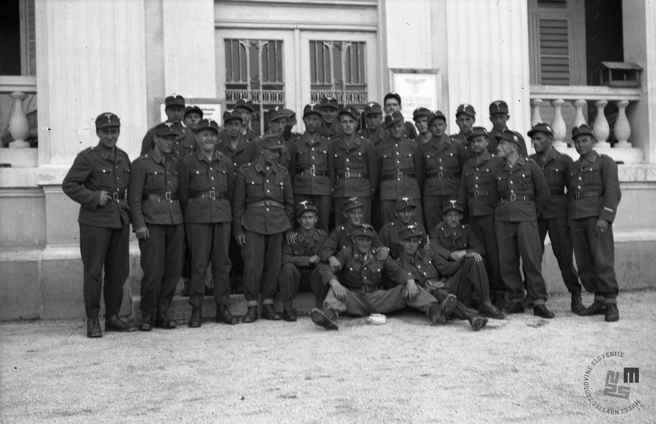 "From September 1941 onwards, inhabitants of the Gorenjska region were sent to ""SA Gruppenschule"" courses in Rogaška Slatina. MNZS."