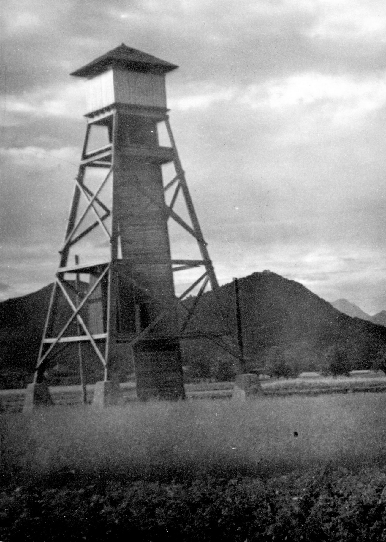 A German watchtower on the border with the Third Reich. MNZS.
