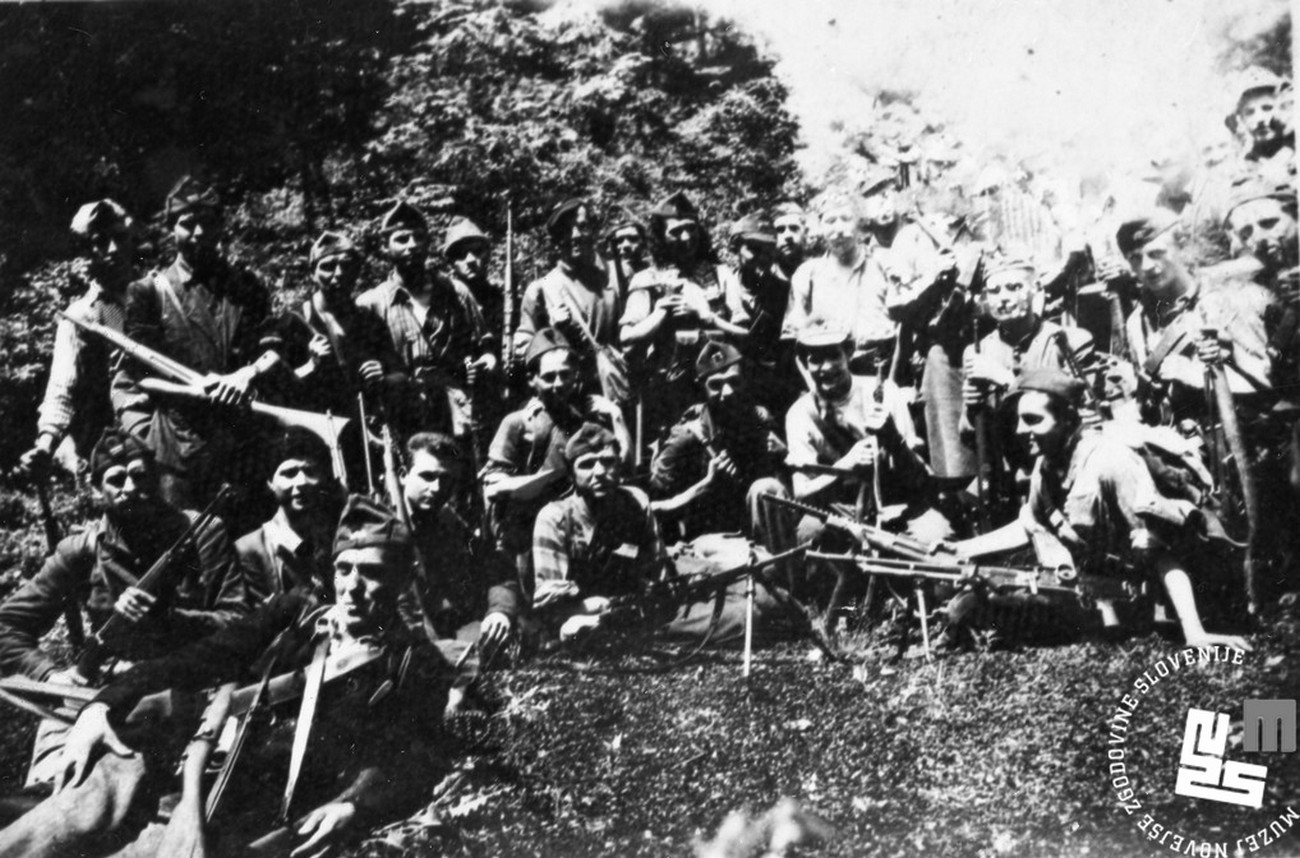 A group of Partisans from Gregorčič's brigade, which, on 22 June 1943, under the leadership of Ivan Turšič - Iztok, attacked a truck of the mobile unit of Public Security from Idrija. The attack took place in Razore, which is located between Mrzla Rupa and Vojsko. 15 Italians were killed in the attack. MNZS.