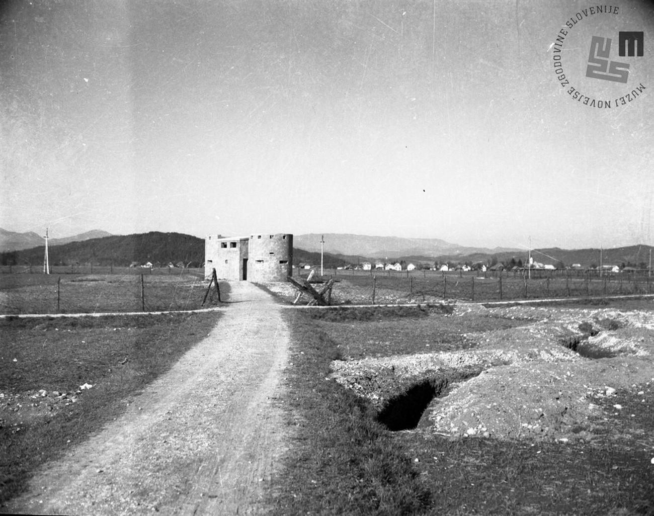 Bunker near Šmartinska cesta. Author: Jakob Prešern. MNZS.