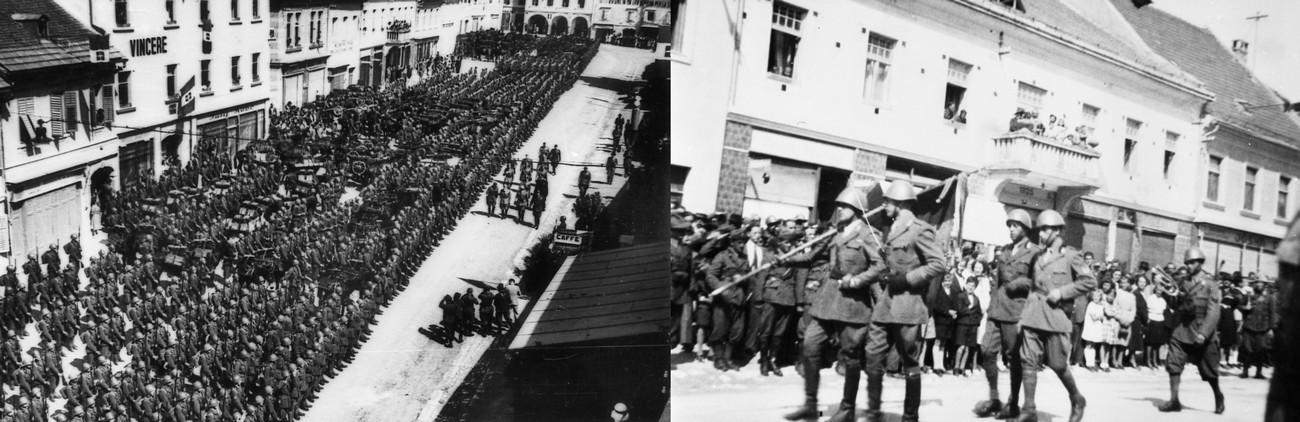 19. junija 1941 je na svojem inšpekcijskem obisku Novo mesto obiskal maršal De Bono. »Mesto se je na prihod Maršala lepo pripravilo, zlasti glavni trg je bil ves v italijanskih in fašističnih zastavah, ki so vihrale iz hiš visokemu gostu v pozdrav.« Slovenec, 21. junij 1941. MNZS.