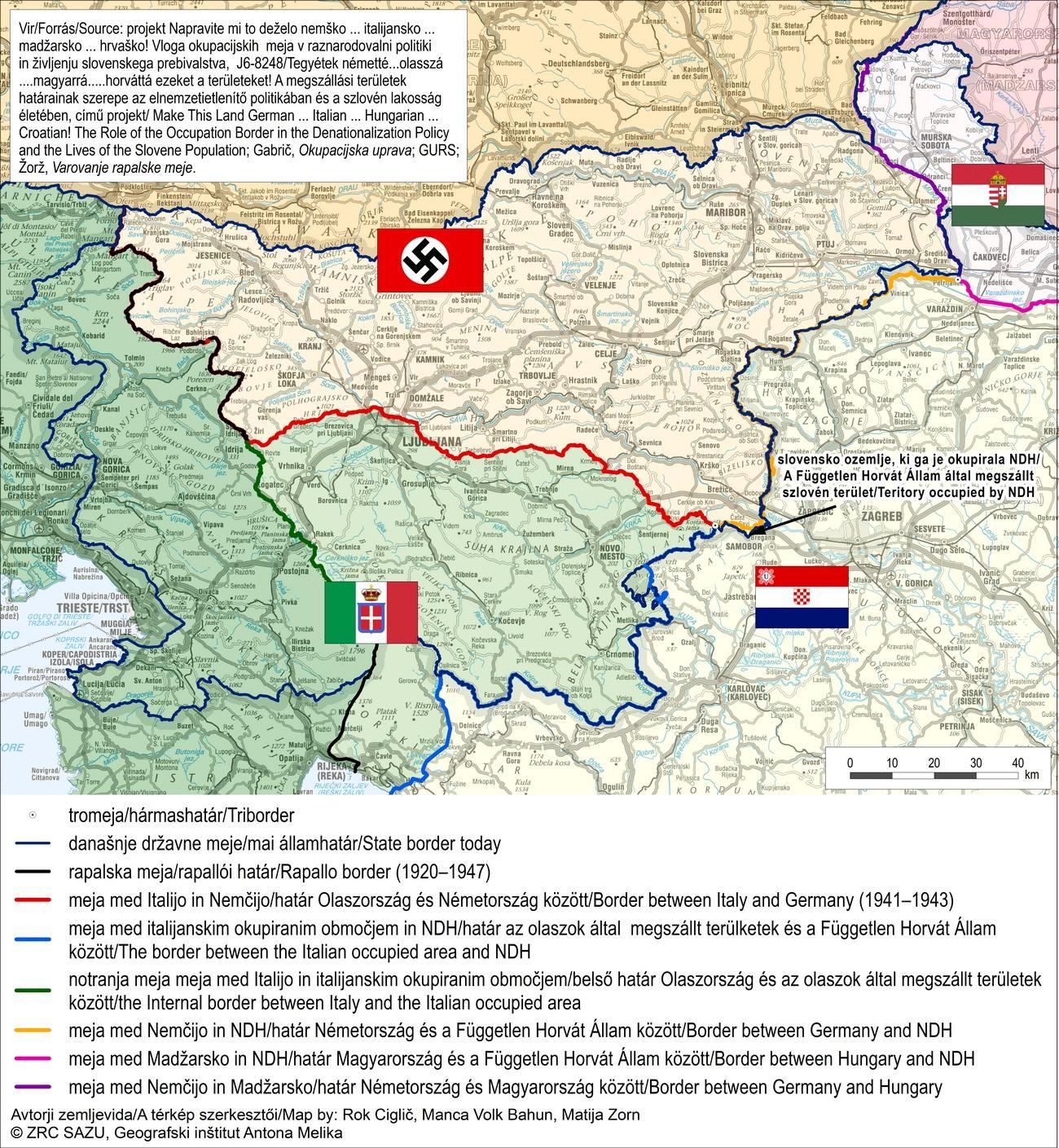 Po okupaciji so si slovensko ozemlje razdelili tako Nemci kot Italijani, Madžari in Hrvati.