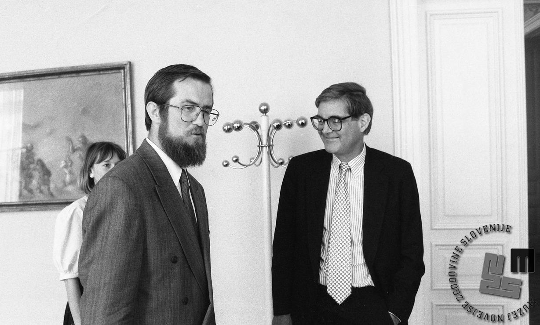 Lojze Peterle in Warren Zimmermann